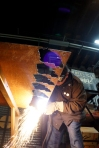 Plasma cutting!!!  Photo by Scott Van Campen