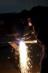 Plasma cutting 2!!!  Photo by Scott Van Campen