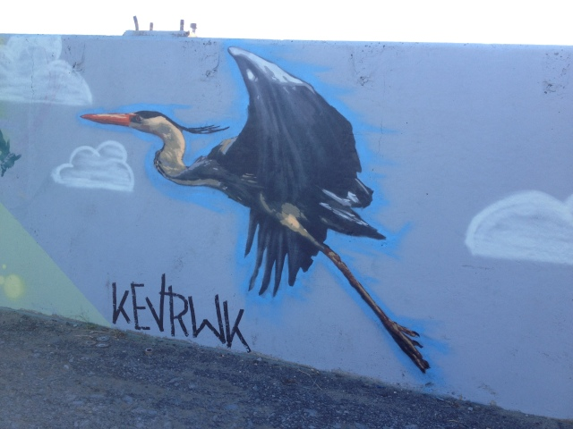 My completed Blue Heron (detail)